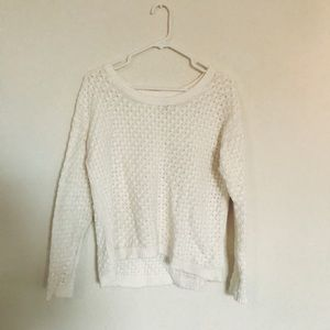 Old Navy Class White Knit Chunky Sweater